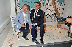 Left to right, GRAHAM NORTON and BARRATT WEST at the Tiffany & Co. Exhibition 'Fifth And 57th' Opening Night held in The Old Selfridges Hotel, Orchard Street, London on 1st July 2015.