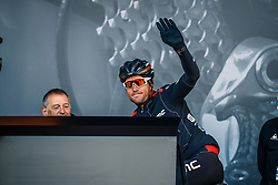 VAN AVERMAET Greg of BMC Racing Team before the UCI WorldTour 103rd Liège-Bastogne-Liège from Liège to Ans with 258 km of racing at Liège (258 km to go), Belgium, 23 April 2017. Photo by Pim Nijland / PelotonPhotos.com | All photos usage must carry mandatory copyright credit (Peloton Photos | Pim Nijland)