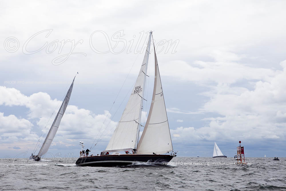 Fearless and Hanuman sailing in the Newport Bucket Regatta, race 2.