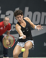 Carla Suarez Navarro (ESP) during the WTA Generali Ladies Open at TipsArena, Linz<br /> Picture by EXPA Pictures/Focus Images Ltd 07814482222<br /> 11/10/2016<br /> *** UK &amp; IRELAND ONLY ***<br /> <br /> EXPA-REI-161011-5014.jpg