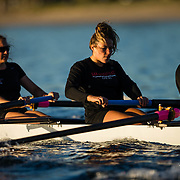 17 February 2018: San Diego State women's rowing team held a scrimmage against UCSD and USD Saturday morning on Mission Bay.<br /> More game action at sdsuaztecphotos.com