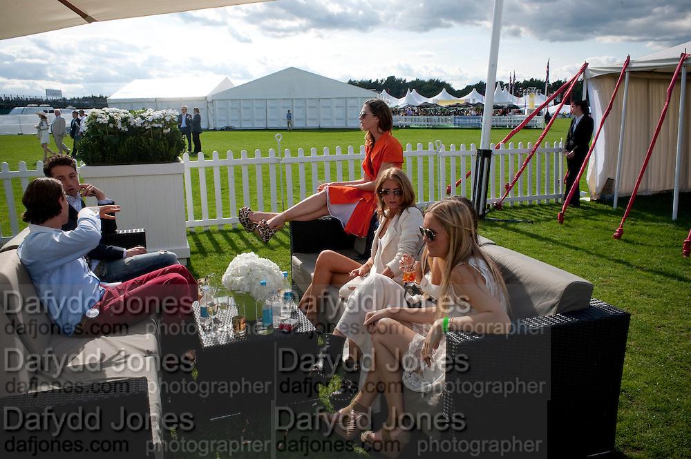 MARGOT STILLEY; CAMILLA MACKINTOSH, Cartier International Polo. Smiths Lawn. Windsor. 24 July 2011. <br /> <br />  , -DO NOT ARCHIVE-© Copyright Photograph by Dafydd Jones. 248 Clapham Rd. London SW9 0PZ. Tel 0207 820 0771. www.dafjones.com.