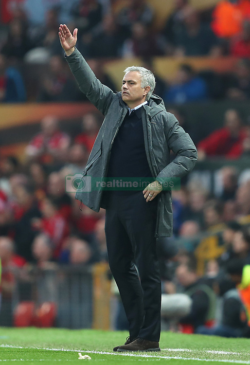 Manchester United manager Jose Mourinho on the touchline