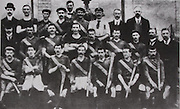 London Alll-Ireland Hurling Champions 1901. Back Row: W Douglas ( Hon Sec), P King ( Clare), J O'Connell ( Limerick), Tim Doody (Limerick), T Redmond (Wexford), Dan Horgan ( Cork), J McCarthy (Kilkenny), referee, L J O'Toole ( Sec, Central Council), J Shine ( Galway). Middle Row: J Tobin (Hon Treasurer), J Lynch ( Cork), Jack King (Clare), Ned Barrett (Kerry), C Crowley ( Cork), J Fitzgerald ( Limerick), M McMahon (Tipperary), M O'Brien, Wm McCarthy (President). Front Row: M Horgan ( Cork), Tom Barry ( Cork), J O'Brien ( Clare).