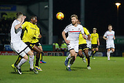Fulham defender Tomas Kalas (26) during the EFL Sky Bet Championship match between Burton Albion and Fulham at the Pirelli Stadium, Burton upon Trent, England on 1st February 2017. Photo by Richard Holmes.