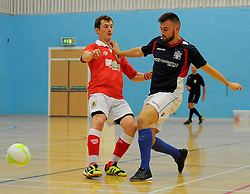 Bristol City Futsal lose ball possession. - Photo mandatory by-line: Nizaam Jones - Mobile: 07583 387221 - 02/11/2014 - SPORT - Futsal - Gloucester - Gloucester University - v BCFC Futsal- Sport