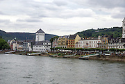 Koblenz, Germany as seen from the Rhine river