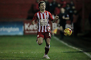 Shay McCartan (Accrington Stanley) during the Sky Bet League 2 match between Accrington Stanley and Hartlepool United at the Fraser Eagle Stadium, Accrington, England on 19 January 2016. Photo by Mark P Doherty.