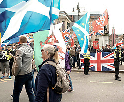 All Under One Banner Independence March, Glasgow, Saturday 4th May 2019<br /> <br /> Pictured: A small group of British nationalists held a counter demonstration<br /> <br /> Alex Todd | Edinburgh Elite media