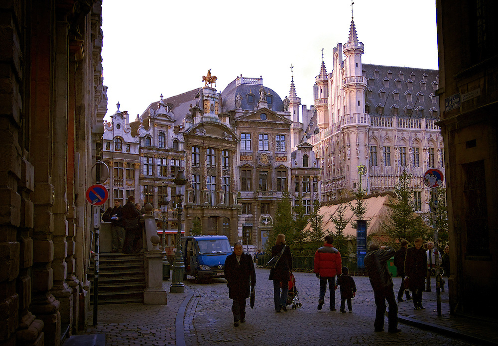 An entrace to the Center Place, Brussels Belguim.