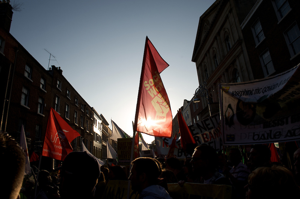 Right to Work Movement march in Dublin.