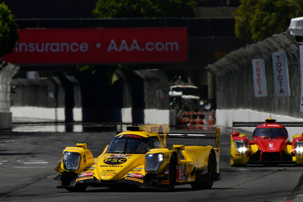 #85 JDC/Miller Motorsports ORECA 07, P: Simon Trummer, Robert Alon<br /> Saturday 14 April 2018<br /> BUBBA burger Sports Car Grand Prix at Long Beach<br /> Verizon IndyCar Series<br /> Streets of Long Beach CA USA<br /> World Copyright: Scott R LePage<br /> LAT Images