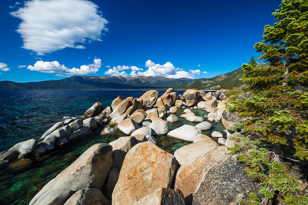 Boulders on the shore at Sand Harbor State Park, Lake Tahoe, Nevada, USA