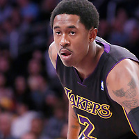 28 February 2014: Los Angeles Lakers shooting guard MarShon Brooks (2) is seen during the Los Angeles Lakers 126-122 victory over the Sacramento Kings at the Staples Center, Los Angeles, California, USA.