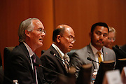 Rob Means discusses his goals during the Milpitas City Council Forum at Milpitas City Hall in Milpitas, California, on October 9, 2014. (Stan Olszewski/SOSKIphoto)