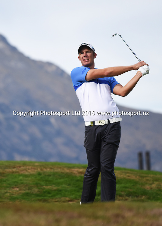 Australia's Steven Jones during Round 3 at The Hills during 2016 BMW ISPS Handa New Zealand Open. Saturday 12 March 2016. Arrowtown, New Zealand. Copyright photo: Andrew Cornaga / www.photosport.nz