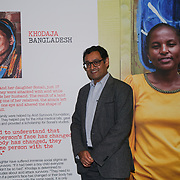 U Block 146 Brick Lane, London, UK. 10th October, 2017. Girish Menon is an Chief Executive Actionaid UK introduce the ActionAid Survivors Runway - fashion show showcase the inner strength and dignity of survivors who have had the courage to speak out against gender-based violence