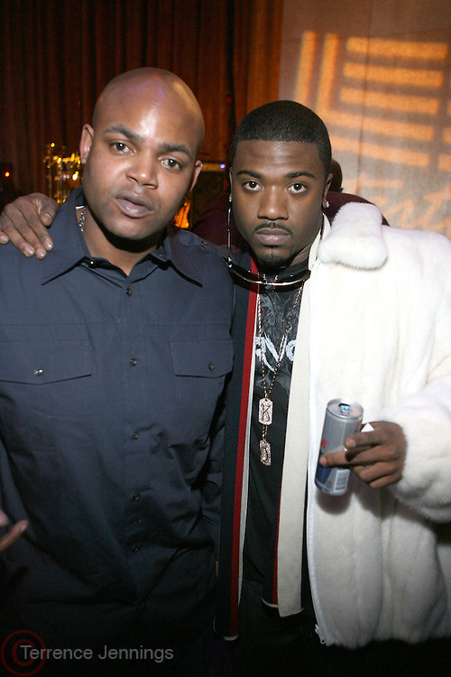"Harve Pierre and Ray J at "" The P. Diddy presents Bad Boy Entertainment Night "" at Spotlight NYC featuring performances by Cherri Dennis and Vanity Kane on January 29, 2008"