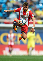 VILLARREAL, SPAIN - MARCH 03:  Cristian Portugues of Girona in action during the La Liga match between Villarreal and Girona at Estadio de La Ceramica on March 3, 2018 in Villarreal, Spain.  (Photo by Manuel Queimadelos Alonso/Getty Images)