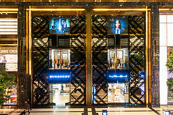 Burberry store in the  new Prestige luxury arcade with high-end boutiques inside The Avenues shopping mall in Kuwait City, Kuwait