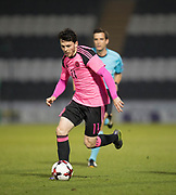Scotland's Lewis Morgan - Scotland under 21s v Estonia international challenge match at St Mirren Park, St Mirren. Pic David Young<br />  <br /> - &copy; David Young - www.davidyoungphoto.co.uk - email: davidyoungphoto@gmail.com