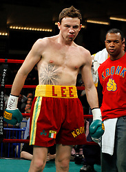 Mar 16, 2007; New York, NY, USA;  Andy Lee knocks out Carl Daniels in the third round of their bout at the Theater at Madison Square Garden.