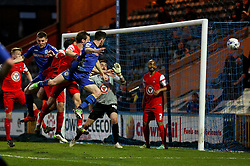Rochdale's Ian Henderson fires a header wide of goal - Photo mandatory by-line: Matt McNulty/JMP - Mobile: 07966 386802 - 21/04/2015 - SPORT - Football - Rochdale - Spotland Stadium - Rochdale v Leyton Orient - Sky Bet League One