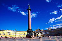 Alexander Column, Palace Square (General Staff Building in background), St. Petersburg, Russia