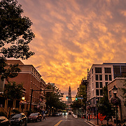 ARLINGTON, VA - The sun sets over Old Town on Thursday, Sept. 5, 2019 in Arlington. (Staff Photo by Jay Westcott)