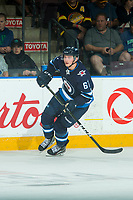 PENTICTON, CANADA - SEPTEMBER 8: Jordy Stallard #67 of Winnipeg Jets skates against the Vancouver Canucks on September 8, 2017 at the South Okanagan Event Centre in Penticton, British Columbia, Canada.  (Photo by Marissa Baecker/Shoot the Breeze)  *** Local Caption ***