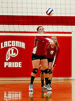 Laconia versus Gilford girls varsity volleyball.  Karen Bobotas for the Laconia Daily Sun
