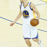 04 June 2017: Golden State Warriors guard Klay Thompson (11) is seen during the Golden State Warriors 132-113 victory over the Cleveland Cavaliers, in game 2 of the 2017 NBA Finals, at the Oracle Arena, Oakland, California, USA.