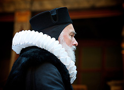 The Tempest By William Shakespeare, The Globe Theatre, London, Great Britain..Directed by Jeremy Herrin, designed by Max Jones, music by Stephen Warbeck..Pip Donaghy  .Gonzalo, on April 26, 2013, on April 29, 2013. Photo by Elliott Franks / i-Images. .