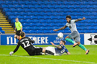 Football - 2019 / 2020 Championship - Cardiff City vs Blackburn Rovers<br /> <br /> Dominic Samuel Blackburn Rovers shoots at goal but it is saved by Alexander Smithies of Cardiff City<br /> in a match played with no crowd due to Covid 19 coronavirus emergency regulations, at the almost empty Liberty Stadium.<br /> <br /> COLORSPORT/WINSTON BYNORTH