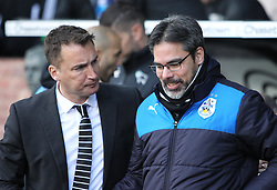 Huddersfield Town Head Coach David Wagner and Derby Head Coach Darren Wassell (L) before the match - Mandatory byline: Jack Phillips/JMP - 05/03/2016 - FOOTBALL - iPro Stadium - Derby, England - Derby County v Huddersfield Town - Sky Bet Championship