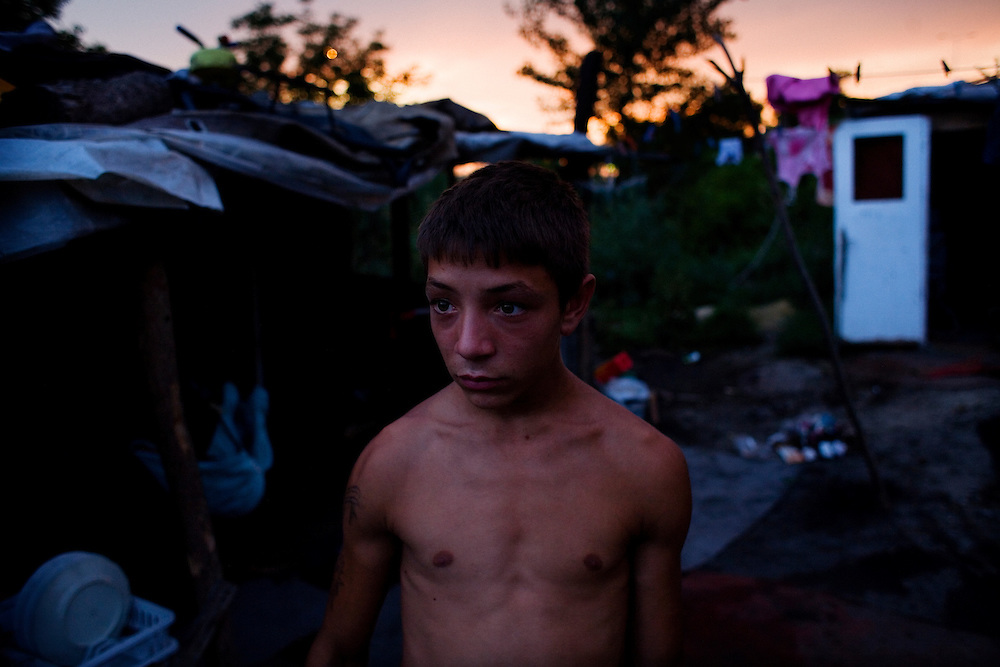 A young man in the Stara Gazela camp.