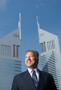 Jeffrey Culpepper, Chief Executive Officer, Middle East and North Africa, Deutsche Bank outside his Dubai International Financial Centre office, Dubai on Wednesday, Apr. 19, 2006..Dubai, United Arab Emirates
