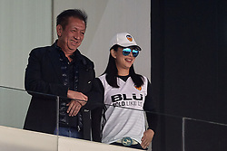 April 18, 2018 - Valencia, Valencia, Spain - Owner of Valencia CF Peter Lim (L) and his wife Cherie Lim attend during the La Liga game between Valencia CF and Getafe CF at Mestalla on April 18, 2018 in Valencia, Spain  (Credit Image: © David Aliaga/NurPhoto via ZUMA Press)