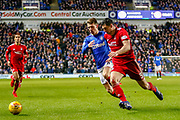 Ryan Jack & Scott McKenna of Aberdeen FC challenge for the ball during the William Hill Scottish Cup quarter final replay match between Rangers and Aberdeen at Ibrox, Glasgow, Scotland on 12 March 2019.
