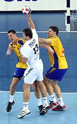 Radovan Pekar (13) of Slovakia during 21st Men's World Handball Championship 2009 Main round Group I match between National teams of Sweden and Slovakia, on January 27, 2009, in Arena Zagreb, Zagreb, Croatia.  (Photo by Vid Ponikvar / Sportida)