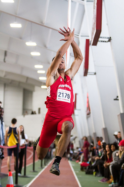 Boston University John Terrier Classic Indoor Track & Field: mens long jump, Stony Brook, Hayes