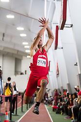 Boston University John Terrier Classic Indoor Track & Field: mens long jump, Stony Brook, Hayes