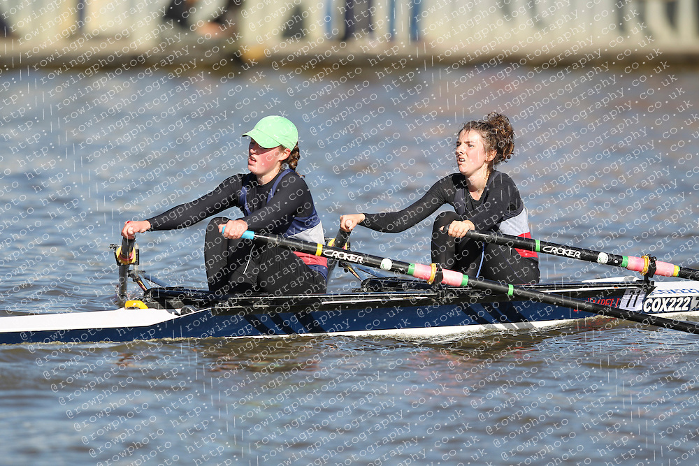 29.09.2012. Wallingford Long Distance Sculls 2012, The River Thames. Division 1. W.J16A 2x. Category Winner. City of Oxford Rowing Club.