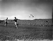 05/10/1958<br /> 10/05/1958<br /> 05 October 1958<br /> Soccer International: Ireland v Poland at Dalymount Park, Dublin.