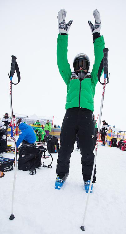 07.02.2013, Planai, Schladming, AUT, FIS Weltmeisterschaften Ski Alpin, 2. Training, Abfahrt, Damen, im Bild Lara Gut (SUI) // Lara Gut of Switzerland before  2nd practice of the ladies Downhill at the FIS Ski World Championships 2013 at the Planai Course, Schladming, Austria on 2013/02/07. EXPA Pictures © 2013, PhotoCredit: EXPA/ Johann Groder