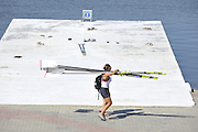 Poznan, POLAND,  Blade carrying, FISA World Rowing Championships. held on the Malta Rowing lake, Thursday  20/08/2009 [Mandatory Credit. Peter Spurrier/Intersport Images]