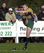 © Peter Spurrier/ Intersport-Images.Photo Peter Spurrier.15/03/2003.Sport - Rugby  National League Div 2 Henley v Harrogate.Barry Reeves converting a first half try