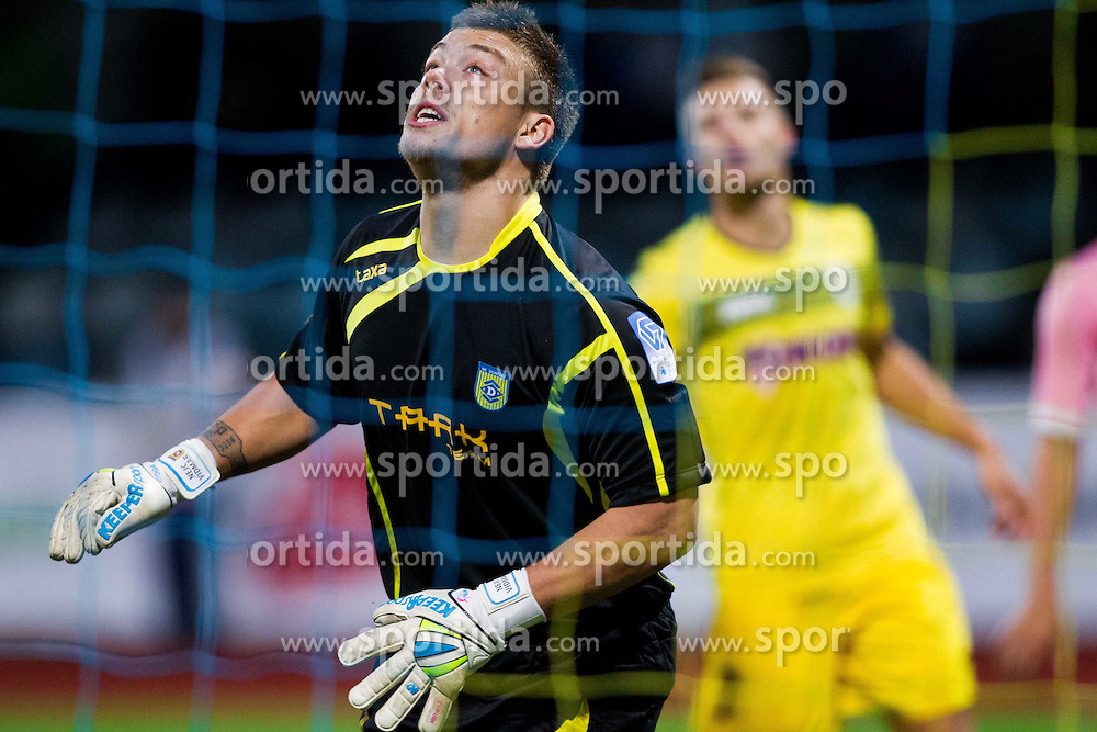 Nejc Vidmar #41 of Domzale during football match between NK Kalcer Radomlje and NK Domzale in 8th Round of Prva liga Telekom Slovenije 2014/15, on September 13, 2014 in Sports park Domzale, Slovenia. Photo by Vid Ponikvar  / Sportida.com