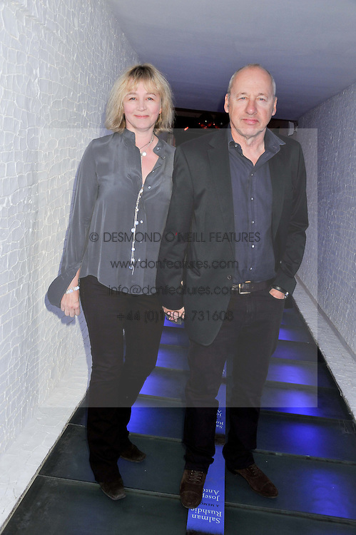 MARK KNOPFLER and his wife KITTY ALDRIDGE at a party to celebrate the publication of Joseph Anton by Sir Salman Rushdie held at The Collection, 264 Brompton Road, London SW3 on 14th September 2012.
