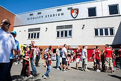 AFC Bournemouth fans arrive - Mandatory by-line: Jason Brown/JMP - Mobile 07966 386802 08/08/2015 - FOOTBALL - Bournemouth, Vitality Stadium - AFC Bournemouth v Aston Villa - Barclays Premier League - Season opener